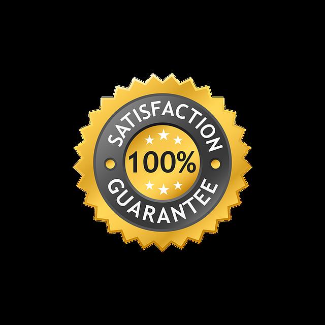 100% guarantee satisfaction-label-1266125_640